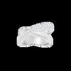 Crystaldust Cross Ring, White, Palladium Plated