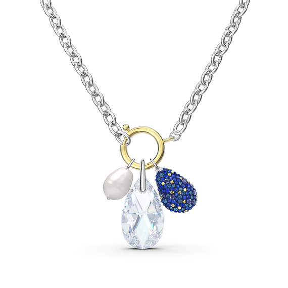 The Elements Necklace, Blue, Mixed metal finish