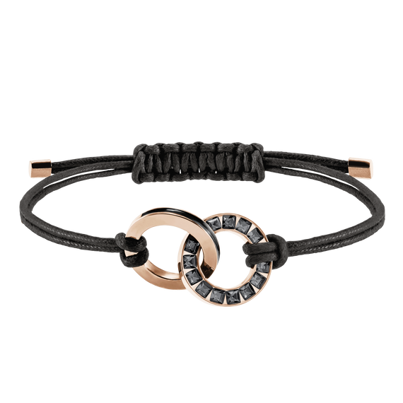 Alto Bracelet, Gray, Rose Gold Plating