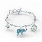 Swarovski Symbolic Elephant Bracelet, Light multi-colored, Rhodium plated