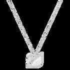 Iconic Swan Pendant, White, Rhodium Plating