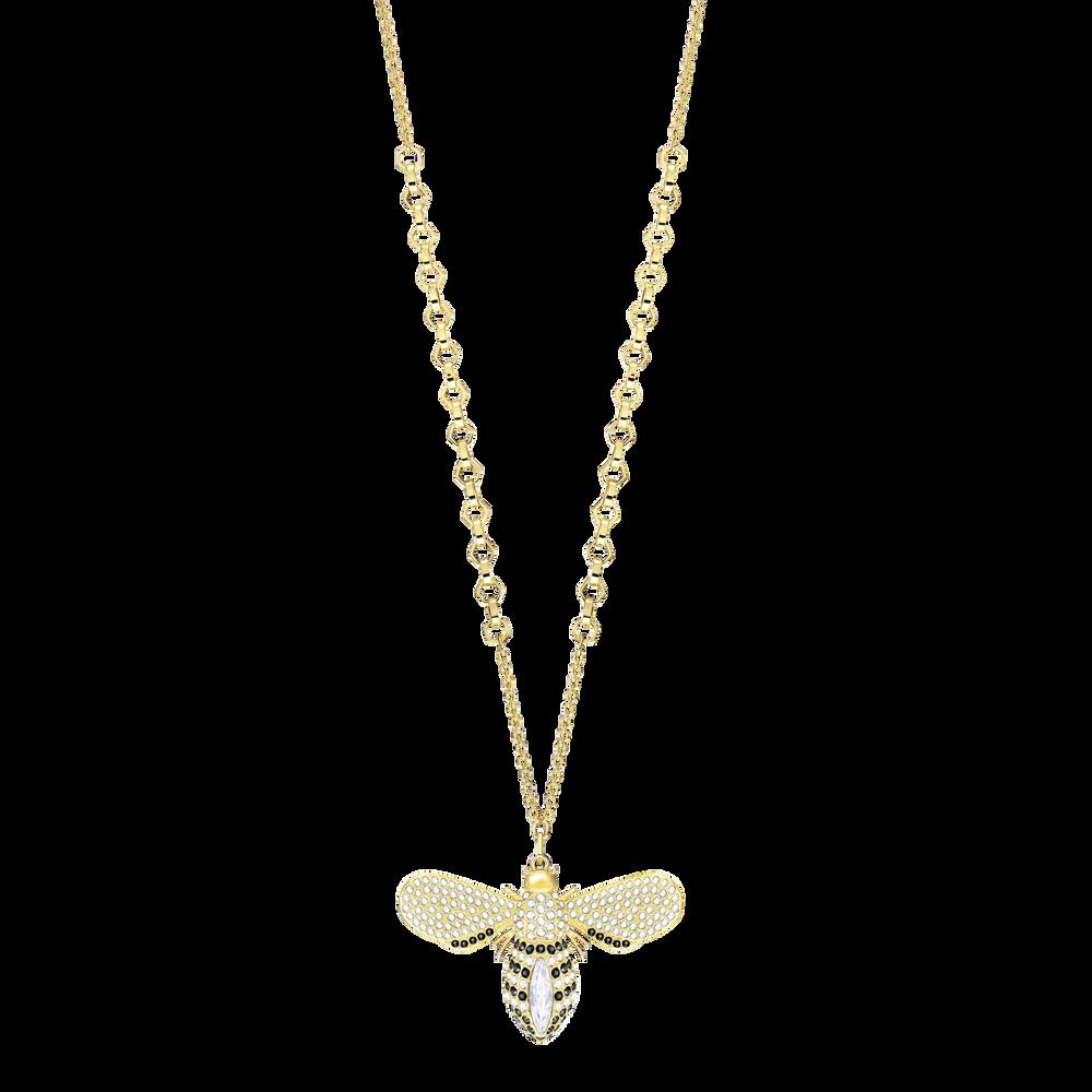 Lisabel Pendant, White, Gold Plating