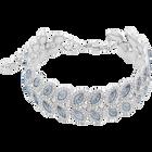 Baron Bracelet, Blue, Rhodium Plated