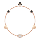 Swarovski Remix Collection Mickey Strand, Large, Multi-colored, Rose gold plating
