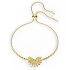 Swarovski Symbolic Palm Bracelet, Light multi-colored, Gold-tone plated