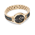 Cosmic Rock Watch, Metal bracelet, Gray, Champagne gold tone