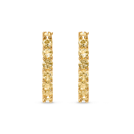 Vittore Hoop Pierced Earrings, Gold tone, Gold-tone plated