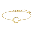 Crescent Star Bracelet, White, Gold-tone plated