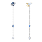 Out of this World Space Pierced Earrings, Multi-colored, Mixed plating