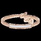 Locket Bracelet, White, Rose-gold tone plated