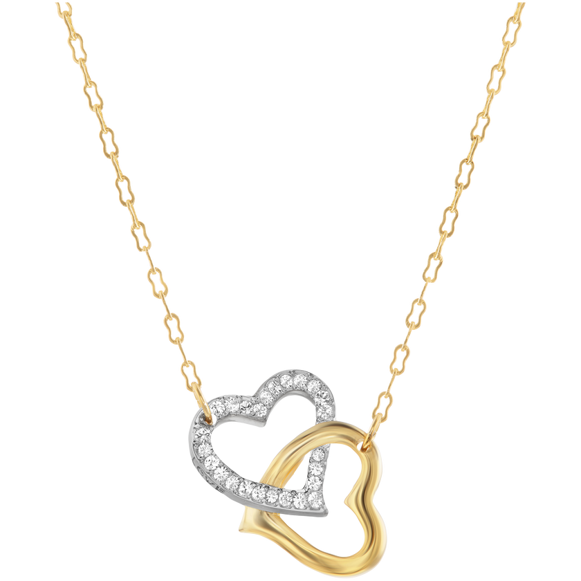 Match Necklace, White, Mixed plating