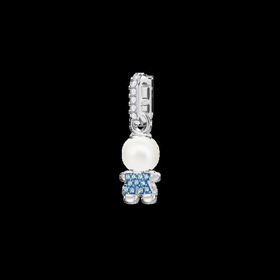 Swarovski Remix Collection Boy Charm, Aqua, Rhodium plating