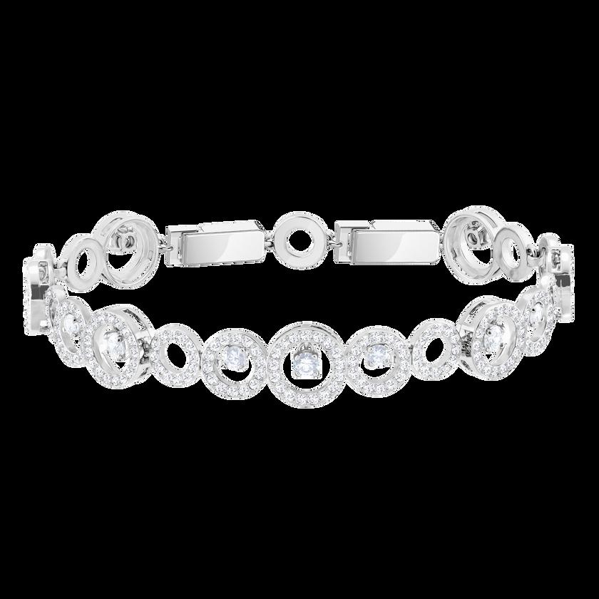 Creativity Bracelet, White, Rhodium Plating