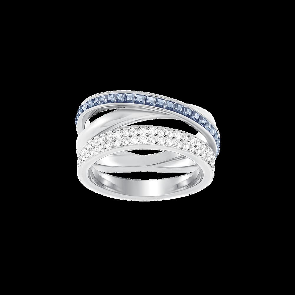 Hero Ring, Blue, Rhodium Plating