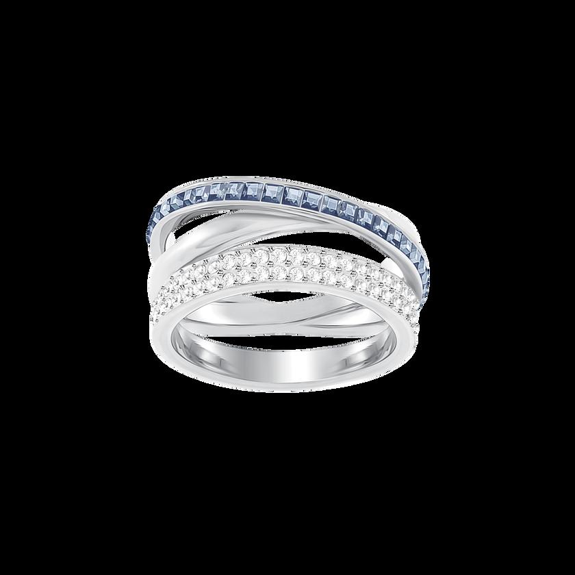 Hero Ring, Blue, Rhodium plated