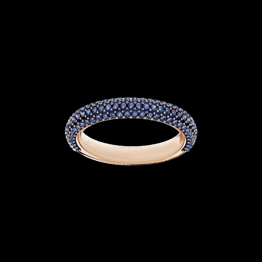 Stone Mini Ring, Blue, Rose Gold Plating
