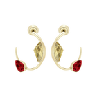 Prisma Pierced Earrings, Multi-Colored, Gold Plating