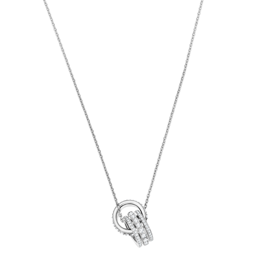 Further Pendant, White, Rhodium Plating