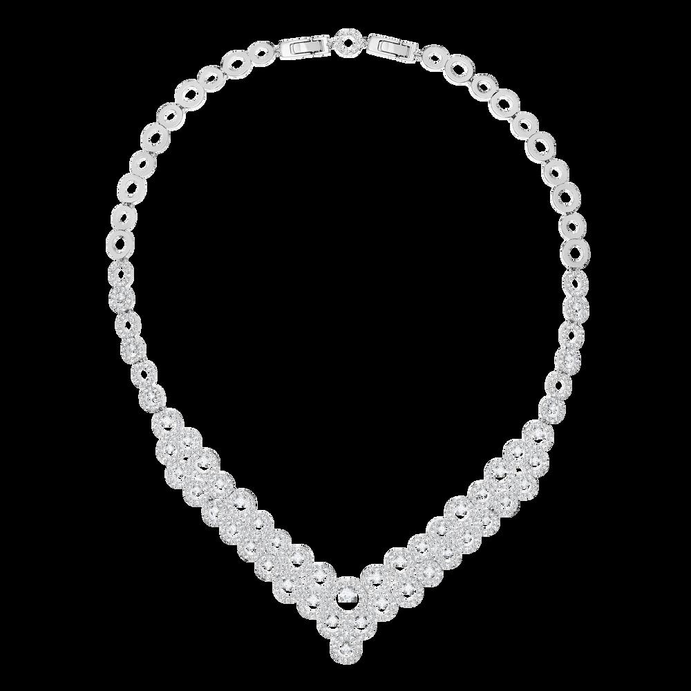 Creativity Necklace, White, Rhodium Plating