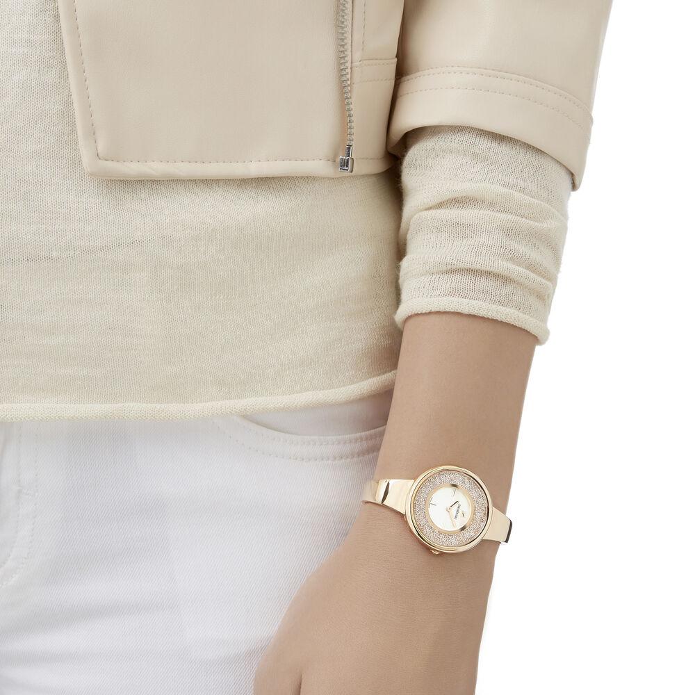 Crystalline Bracelet Watch, Rose Gold Tone