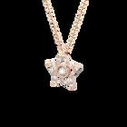 Stella pendant, White, Rose gold-tone plated