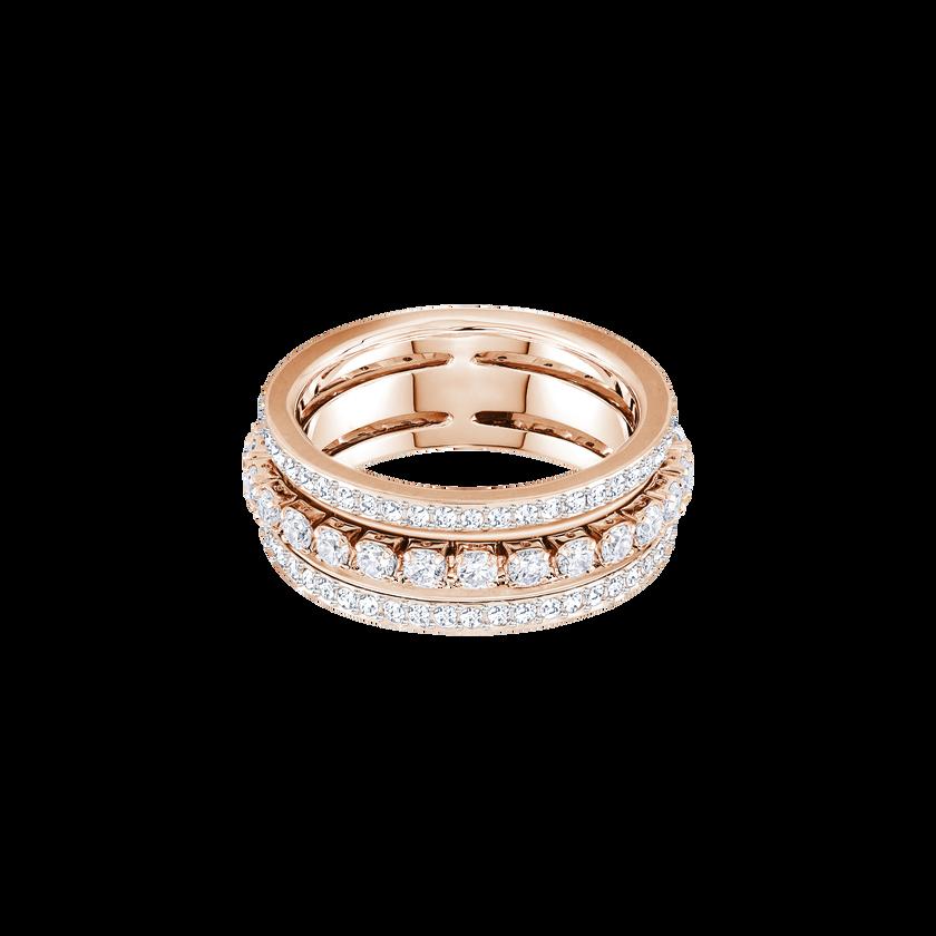 Further Ring, White, Rose Gold Plating