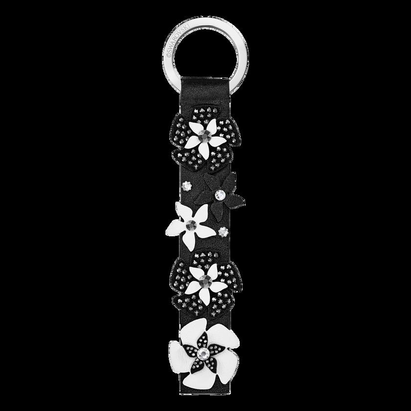 Mazy Key Ring, Black, Stainless Steel