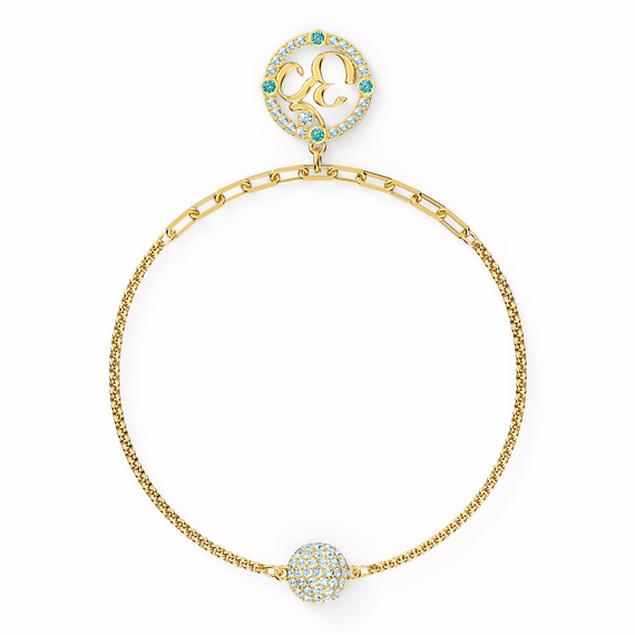 Swarovski Remix Collection Om Strand, Light multi-colored, Gold-tone plated