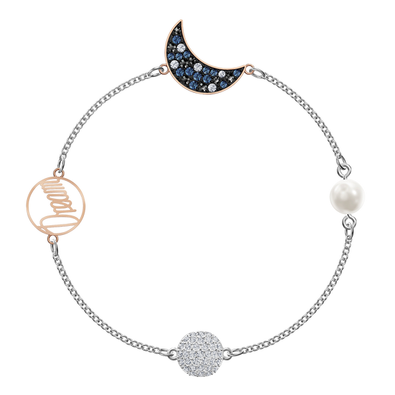 Swarovski Remix Collection Moon Strand, Mixed metal finish, Multi-colored