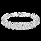 Lace Bracelet, White, Rhodium Plating