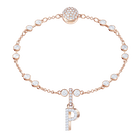 Swarovski Remix Collection Charm P, White, Rose Gold Plating