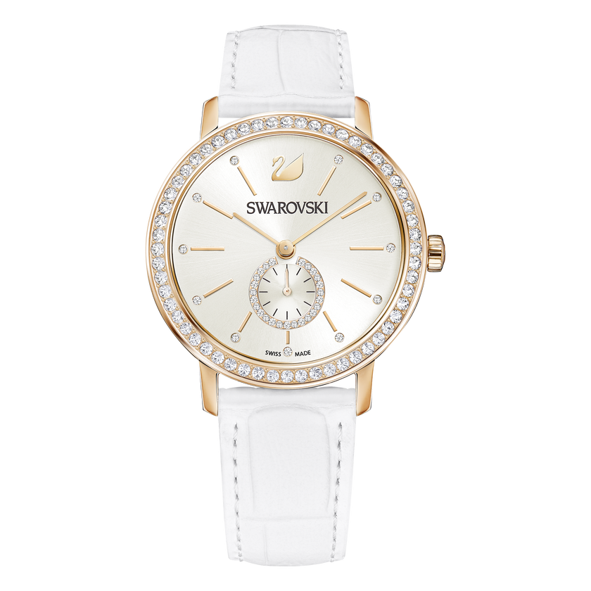 Graceful Lady Watch, White, Rose Gold Tone