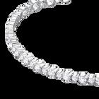 Subtle Bracelet, White, Rhodium plating