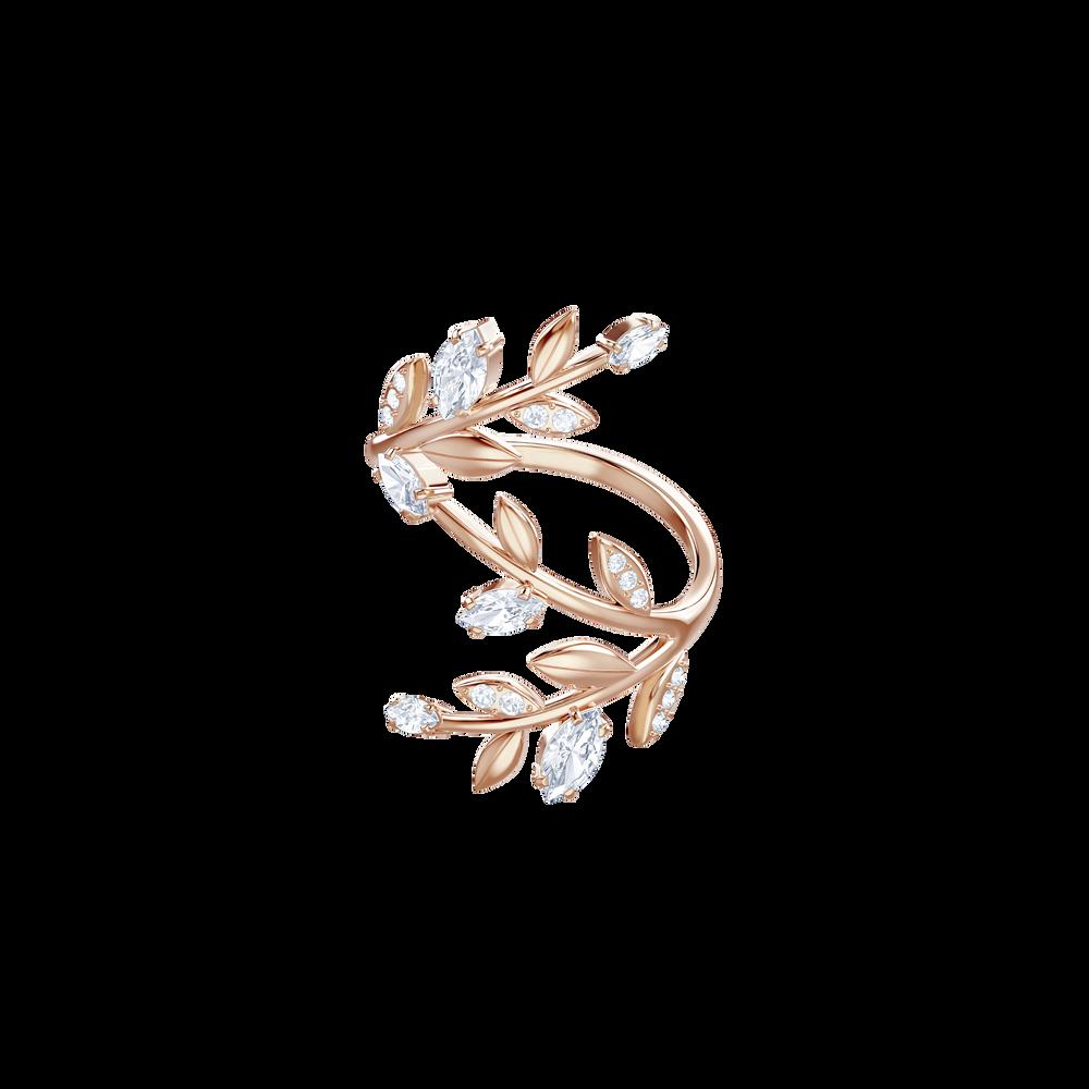 Mayfly Ring, White, Rose Gold Plating