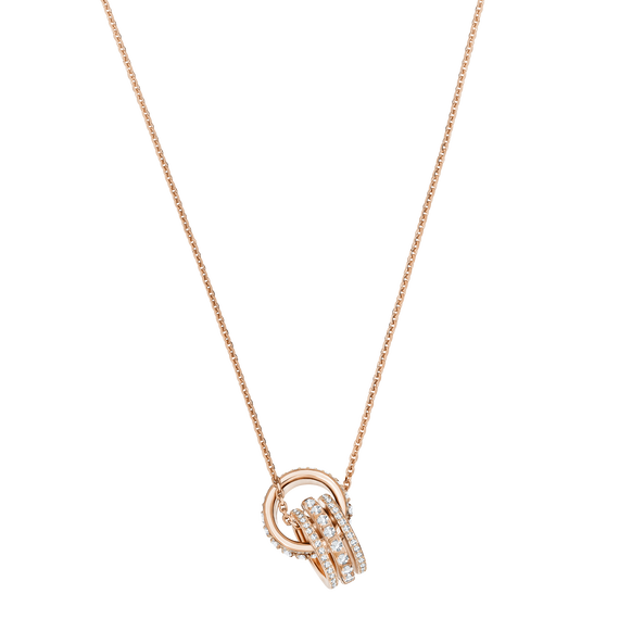 Further Pendant, White, Rose Gold Plating