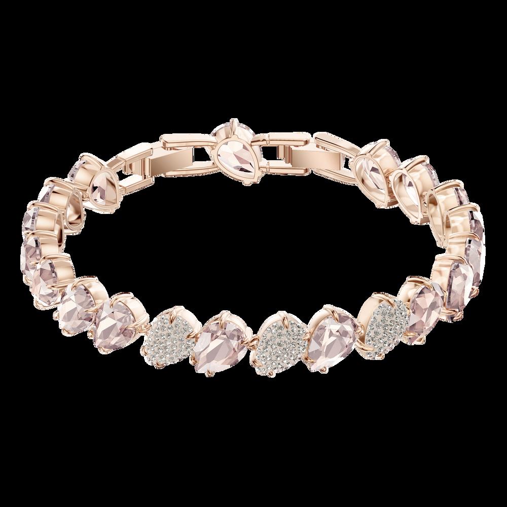 Mix Bracelet, Pink, Rose Gold Plating