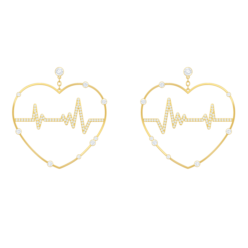 OXO Pierced Earrings, Gold plating