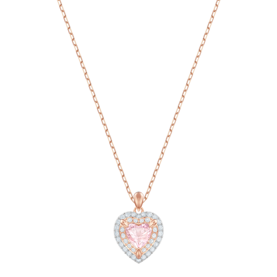 One Pendant, Multi-colored, Rose gold plating