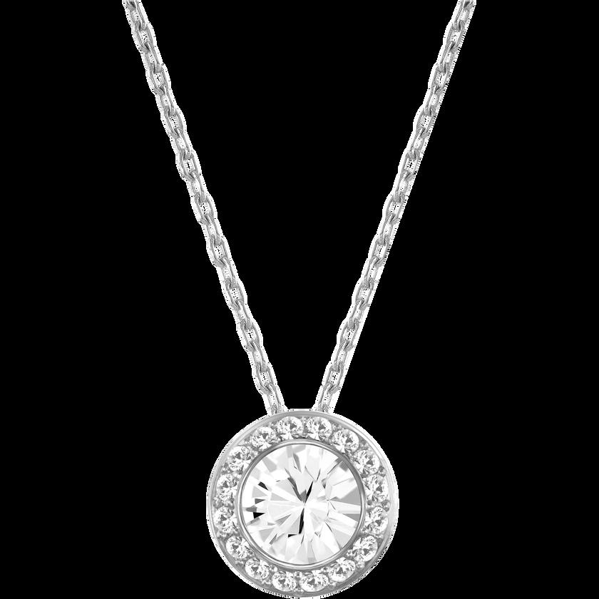 Angelic Pendant, White, Rhodium plating