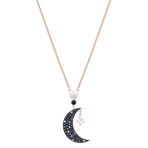 Swarovski Symbolic Pendant, Multi-colored, Rose-gold tone plated
