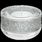 Shimmer Tea Light Holder, Light Gray