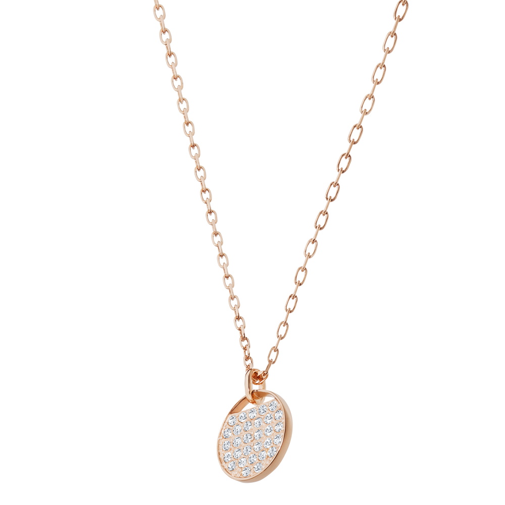 Ginger Pendant, White, Rose Gold Plated