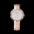 Cosmopolitan Silver Face Watch, Metal bracelet, Rose gold tone, Rose-gold tone PVD