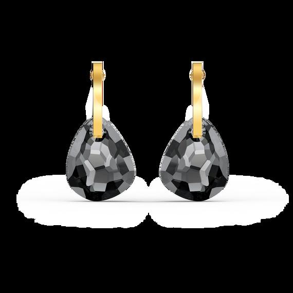 T Bar Pierced Earrings, Grey, Gold-tone plated