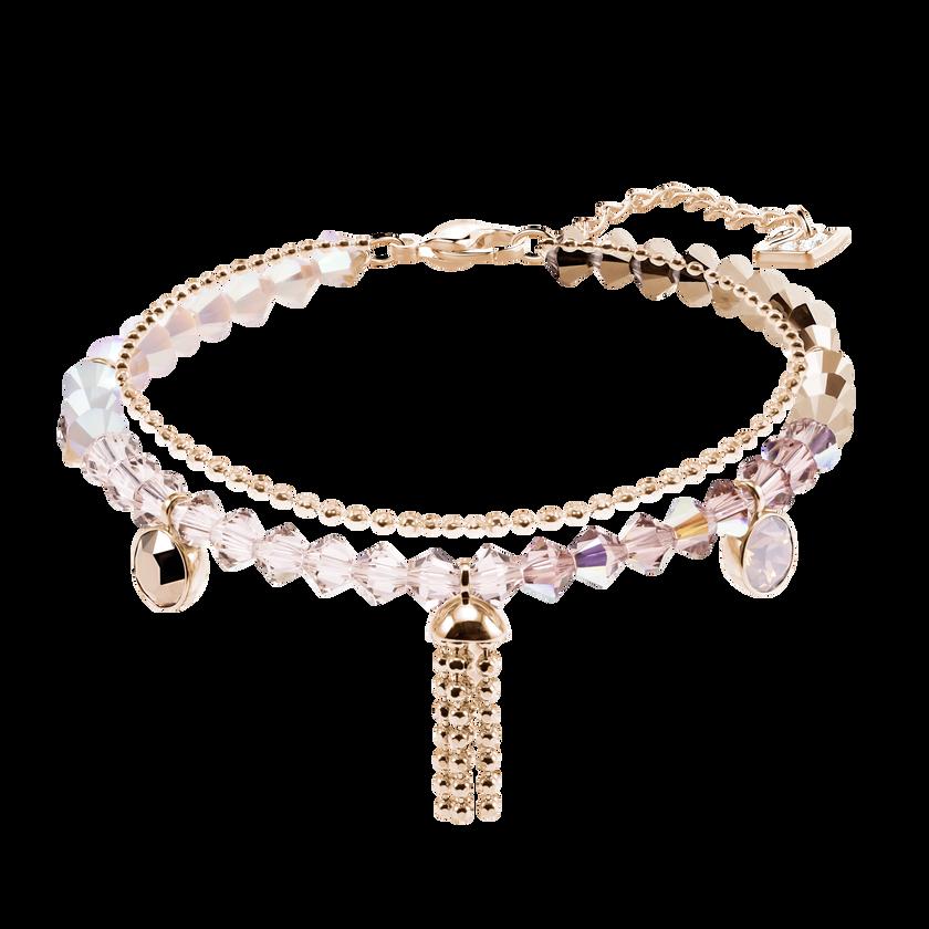 Ocean View Bracelet, Multi-colored, Rose gold plating