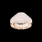 Stone Signet Ring, Pink, Rose Gold Plating
