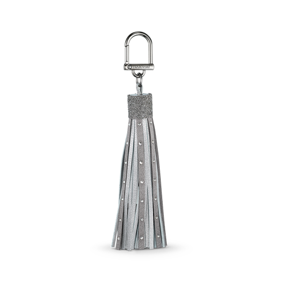 Swarovski USB Cable Charger with Bag Charm, Silver tone