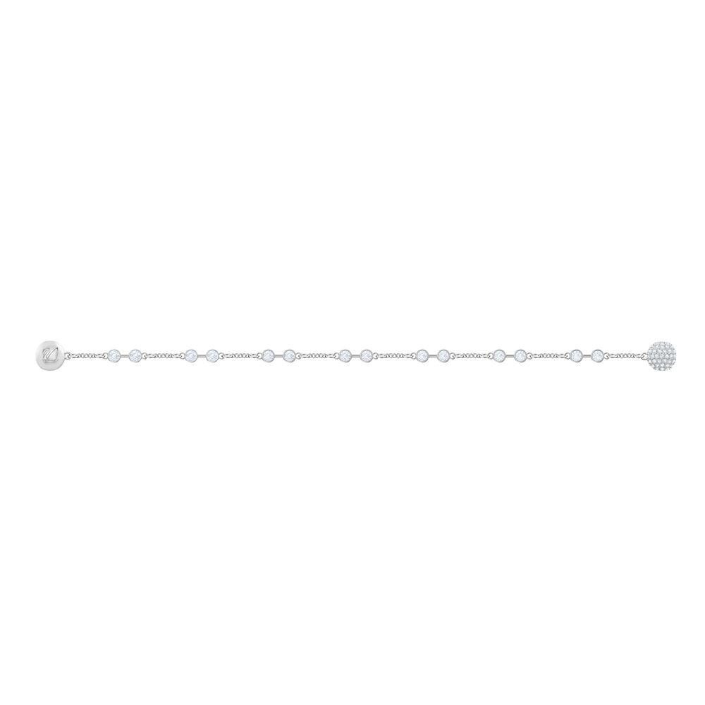 Swarovski Remix Collection Carrier, White, Rhodium Plating
