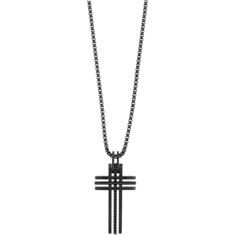 Bengal Cross Black Pendant