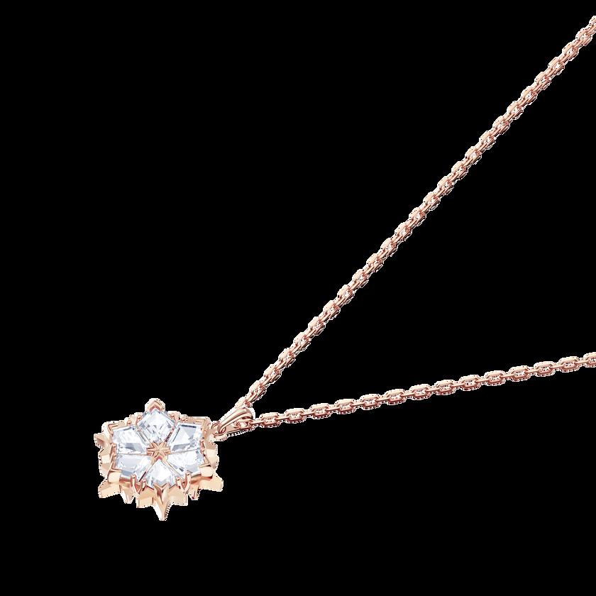 Magic Pendant, White, Rose Gold Plating